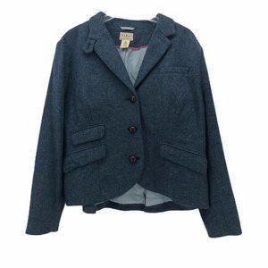 L.L. Bean Womens Suit Jacket Blazer Blue Size 18 P